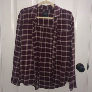 Abercrombie and Fitch plaid flannel shirt women's